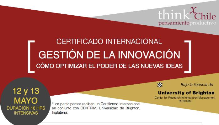 Certificado Gestion de innovación